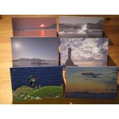 Set of 6 unique cards