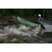 Kaz in action at open canoe slalom