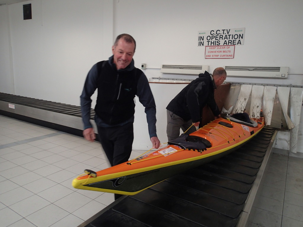 Kayak delivery via Stena line