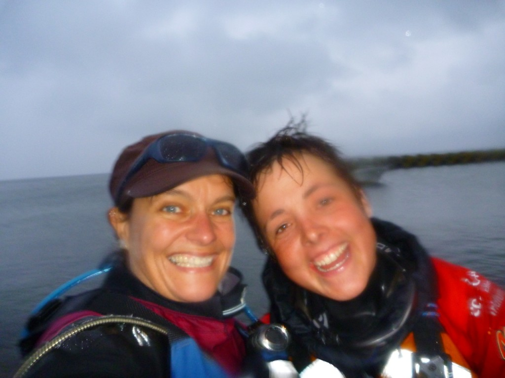 All smiles after a 40 nautical mile paddle from Russia to Japan